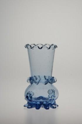 Blue vase 853-854 - historical glass
