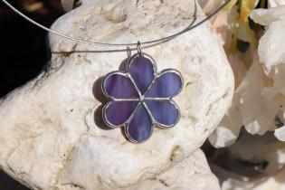 jewel flower purple - historical glass