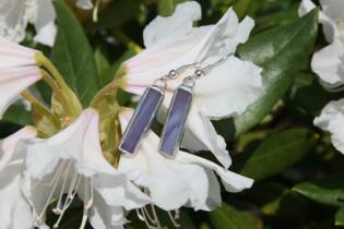 earrings purple 3 - historical glass