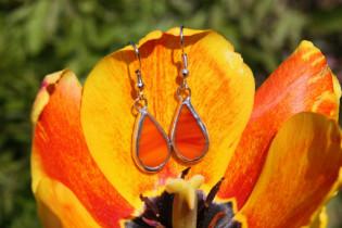 earrings fire - historical glass