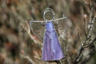Angel purple - historical glass
