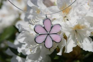 jewel flower pink - historical glass