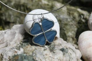 jewel flower blue - historical glass