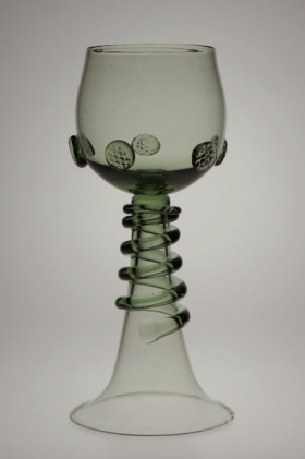 Wedding goblet with spin - 66 - historical glass