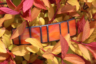 hair clip orange - historical glass