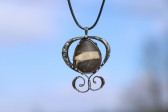 jewel with stone - historical glass
