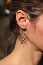 earrings flower - historical glass