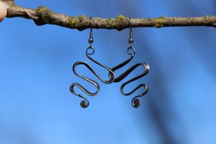 earrings snakes - historical glass