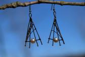 earrings De luxe - historical glass