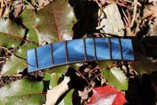 hair clip blue - historical glass