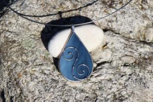 jewel drop blue - historical glass