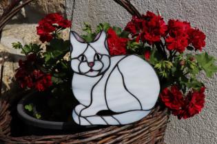 cat  - historical glass